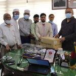 রাজশাহী সিটি কর্পোরেশনকে ১০ হাজার মাস্ক দিল গাক